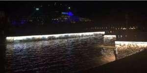 百车河景观亮化工程:有水,有光,有影。钎头